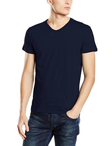 Stedman Apparel Herren T-Shirt Ben (V-Neck)/st9010 Premium Blau - Marina Blue