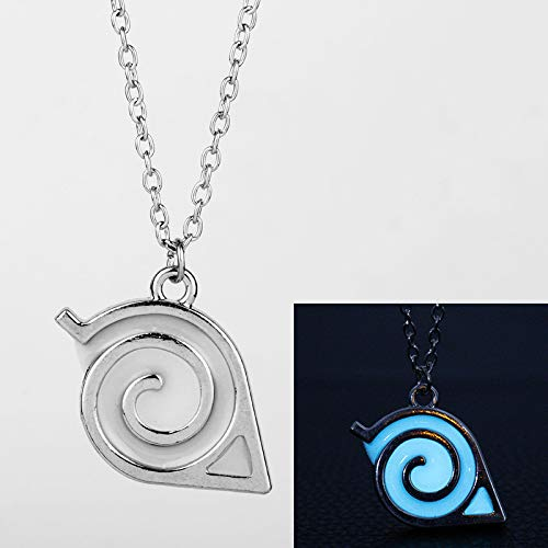 Anime Leuchtende Naruto Halskette Kakashi Blatt Dorf Symbol Cosplay Anhänger Halsketten Kakashi Konoha Ninja Schmuck