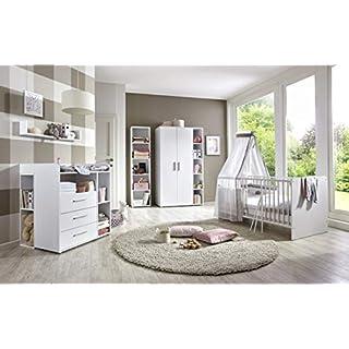 moebel-dich-auf Kinderzimmer Babyzimmer komplett Set in Weiß (Kim 4)