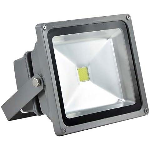 Plateado Domire 20 W LED blanco cálido luz de inundación del paisaje de la lámpara