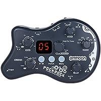 ammoon Múltiples Efecto Pedal PockRock Guitarra Portátil Procesador de Efectos 15 Tipos de Efectos 40 Ritmos del Tambor Función de Ajuste con Adaptador de Corriente