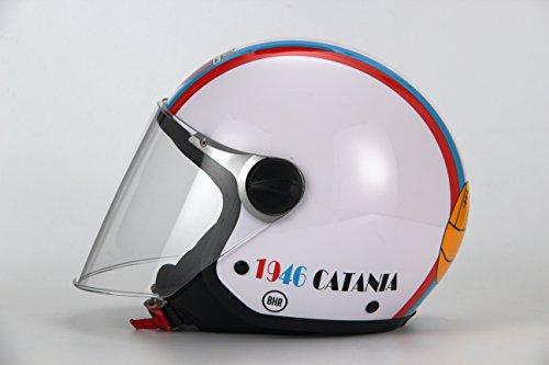 BHR 88877Helm Demi-Jet Linie Junior 713, Catania Fußball Kinder weiß, Größe YS, weiß, Größe YS