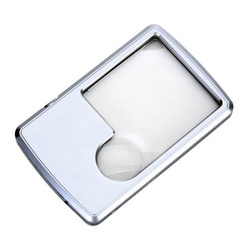 LED Leselupe Lesehilfe 6/3 Fach Vergrößerungsglas Lupe neu