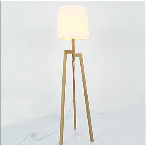 WL&F Solid Wood Floor lampada moderna semplice