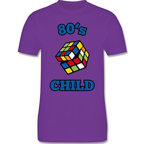 Shirtracer Statement Shirts - 80's Child - Zauberwürfel - Herren T-Shirt Rundhals Lila
