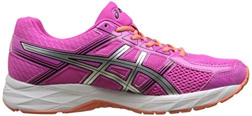Asics Gel-Contend 4, Chaussures de Tennis Femme Rose (Pink Glow/silver/black)