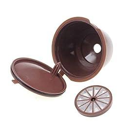 IrahdBowen 5 Set di capsule riutilizzabili per caffè, filtro di qualità alimentare, in polipropilene e in acciaio inox…