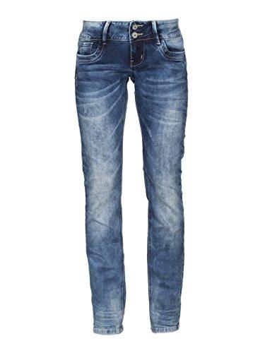 M.O.D. Damen Jeans Larissa - Straight Leg - Blau - Fall Blue, Größe:W 25 L 32, Farbe:Fall Blue (1368)