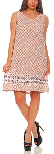 Matyfashion Angesagtes Sommerkleid/Strandkleid, Geeignet als Longshirt zu Leggings / 3-9 (Rosa)