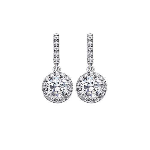 Blisfille Ohrklemme Damen S925 Sterling Silber 925er Silber Damen Mädchen Ohrringe Silber Schmuck Ohrringe Ohrring Anti-Allergie Eingelegten Diamanten Silber
