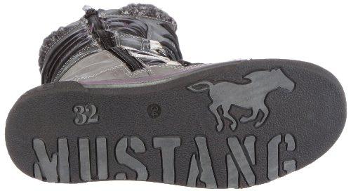 Mustang 5011606 Unisex - Kinder Stiefel Grau/Stein / Schwarz