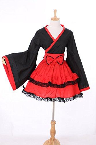 M-3131 rot schwarz Wa-Qi Lolita Japan Kimono Cosplay Kostüm costume Kawaii-Story (Japan...