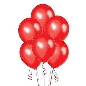 Gifts 4 All Occasions Limited SHATCHI-1214 SHATCHI 5 Globos de látex rojo metálico de calidad para bodas, Navidad, aniversarios, cumpleaños, fiestas, celebraciones, 12 pulgadas