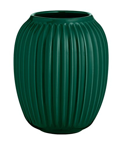Kähler - Vase / Blumenvase - Hammershøi - Keramik - grün - Höhe 20 cm