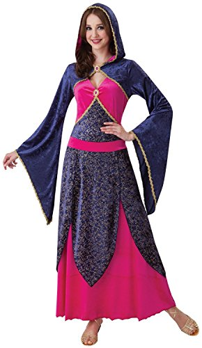 Ladies Sexy Pink Purple Hooded Medieval Gothic Halloween Fancy Dress Costume Outfit UK10-12-14 (One Size (10-14)) (Halloween-outfits Lady Pink)