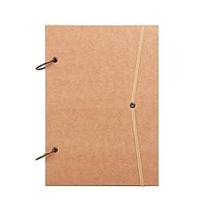 Skizzenbuch aus Kraftpapier, A4, Zeichenpapier, Landschaft, 80 Blatt, Retro, Spiralbindung, mit Hardcover, quadratisch, Zeichenbuch für Anfänger, Profi, Notizbuch, Album, Briefmarken DIN A4 weiß