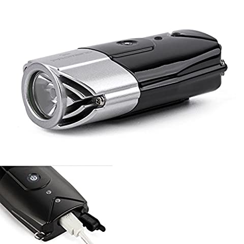 Lugii Cube commutateur tactile Intégré de phare Portable lampe de poche Gris argenté 2000mAh 3W Haute luminosité de recharge USB LED Lampe de vélo
