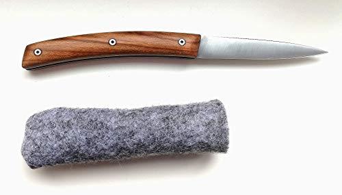 HIRSCH JT1 Taschenmesser-klein-Mini [2019]-Handarbeit aus Österreich Klappmesser-Holzgriff-Outdoor-Messer Schnitzmesser für Kinder-Jausenmesser