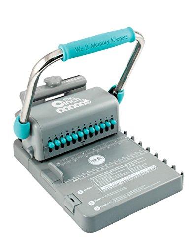 RAYHER HOBBY 79969000 We R Memory Keepers Cinch Bindemaschine, Stanz- und Bindemaschine, Draht-Spiralbindegerät, Ringbindung, Stanzkapazität bis 20 Blatt