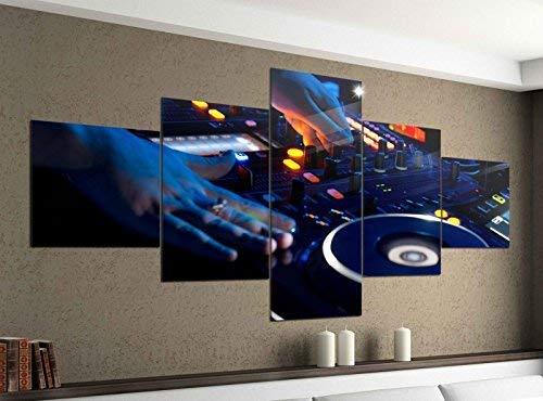 Acrylglasbilder 5 Teilig 200x100cm Musik DJ Disco Mischpult House Druck Acrylbild Acryl Acrylglas Bilder Bild 14F305, Acrylgröße 11:Gesamtgröße 200cmx100cm