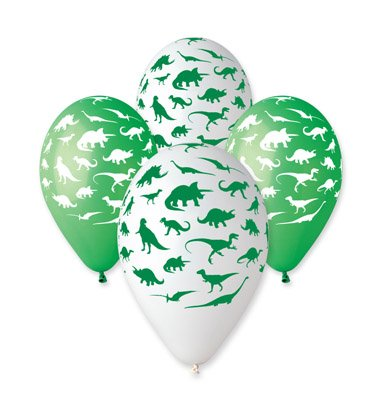 "Image of Dinosaur Balloon 30cm-12"" Assorted Colours. 10 pcs"