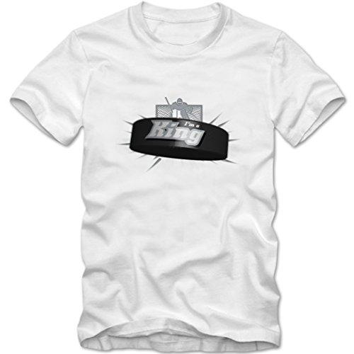 I'm a King #2 T-Shirt |Herren | Eishockey | Play Offs | Fanshirt, Farbe:Weiß (White L190);Größe:XXL -