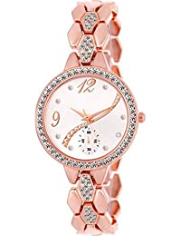 Krupa Enterprise Rose Gold Analogue Dial White Wrist Watch For Women And Girls