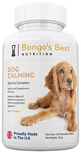 Tranquilizante canino de Bongo's Best - Compuesto de taurina | Suplemento natural...