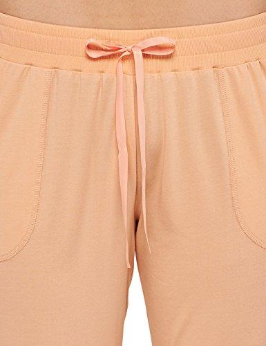 51ba908fb5 ... Schiesser Damen Schlafanzughose Jersey Hose 3/4 Gelb (apricot 603)