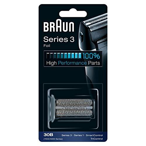 Braun Elektrorasierer Ersatzscherteil 30B, kompatibel mit Series 3 Rasierern, schwarz -