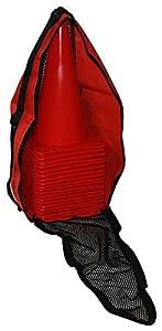 agility sport pour chiens - lot de 20 plots de délimitation 30 cm, couleur: rouge, contient également: un sac pratique - 20x MK30r