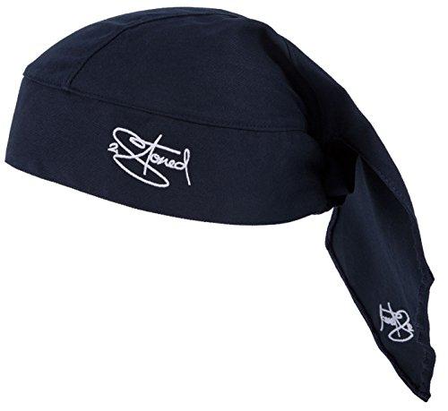 2Stoned Bandana Kopftuch Classic in Dark Navy mit Stick für Herren und Jungen