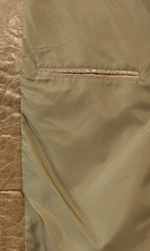 Coppelius - Lederjacke Herrenjacke Blouson gewachstes crushed Leder mit Reißverschluss Rindleder Jacke Comfort Fit relaxter Passform schwarz beige Beige