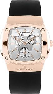 Reloj de caballero JACQUES LEMANS Serie Belfast 1-1476C de cuarzo, correa de piel color negro de Jacques Lemans