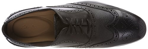 Clarks Herren Gilmore Limit Brogues Schwarz (Black Leather)