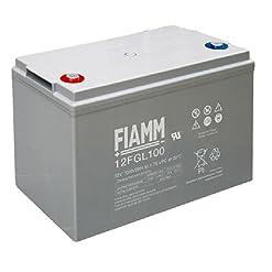 BATTERIA FIAMM 12V 100Ah 12FGL100 VRLA AGM ERMETICA CAMPER