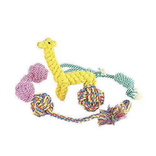 5 Stück Hund Seil Spielzeug Tier Design Baumwollseil Spielzeug Indestructible Hund Seil-Kugel-Welpen Dentitionspielzeug Geschenk Für Haustier -