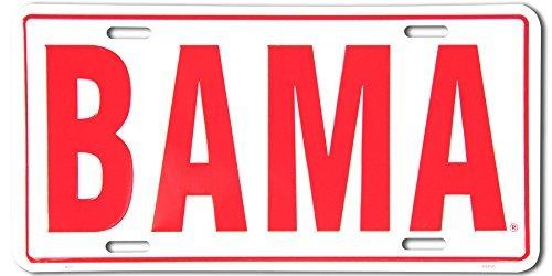 Bama White Metal License Plate by HANGTIME -
