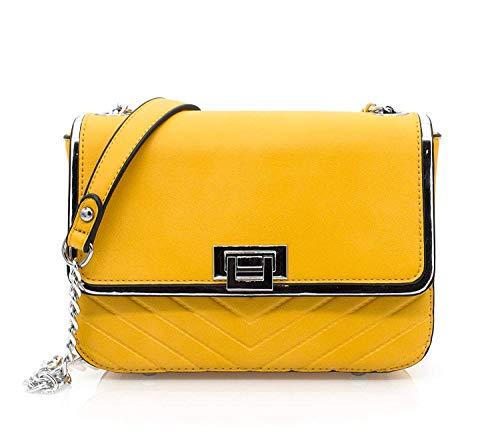 HELLO BAG BY MODE & VOGUE - Bolso Cruzados para Mujer Amarillo Amarillo Mostaza Talla única