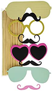 36PCS Colorful Props On A Stick Mustache Photo Booth Party Fun Wedding Christ...