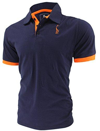 Glestore Polo Uomo Basic Manica Corta Tennis T-shirt