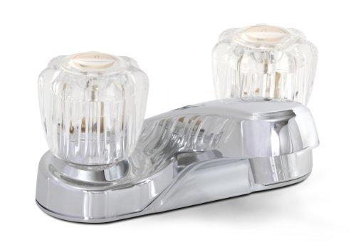 Lead Free Centerset (Premier 120168LF Bayview Lead-Free Centerset Two-Handle Lavatory Faucet without Pop-Up, Chrome by Premier)