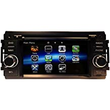 likecar 2DIN radio de coche GPS Navegador para for Dodge RAM 1500(2009–2011)/RAM 2500/3500/4500(2010–2011)/Grand Caravan Avenger Avenger (2008–2012)/Dodge Caliber (2009–2012)/Challenger (2008–2011)/Charger (2008–2010)/Dakota (2008–2010); Durango (2008–2011); Magnum (2008–2009); Journey (2009–2010); Nitro (2007–2011); JEEP WRANGLER 2008–2013e) Touch Screen Navegación Bluetooth FM AM Radio RDS CD DVD reproductor de audio y vídeo estéreo dual Zona