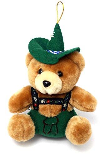 Bavariashop Jodelbär, Bayerischer Teddy, Trachtenhut und Jodelfunktion, 17 cm, Farbe Braun, Geschenkidee, Spielzeug, Sammlerstück