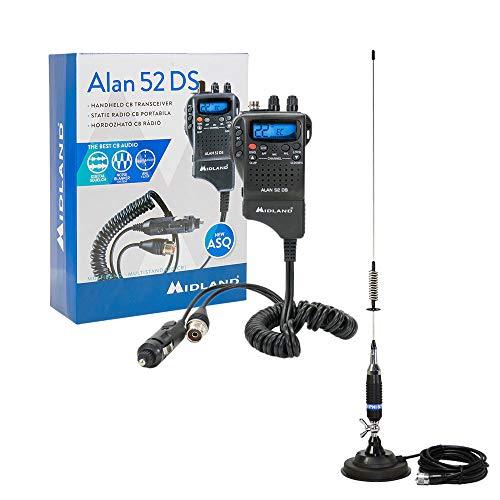 Midland MID-PACK72 Radio Kit, CB Alan 52 DS, PNI S75 Antenne mit Magnet Schwarz Cb-antenne-kits