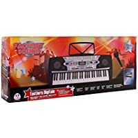 Globo Toys Globo - 37338 Factory Sound 54-Keys Piano with Microphone/100 Stamps Legs and Rhythms