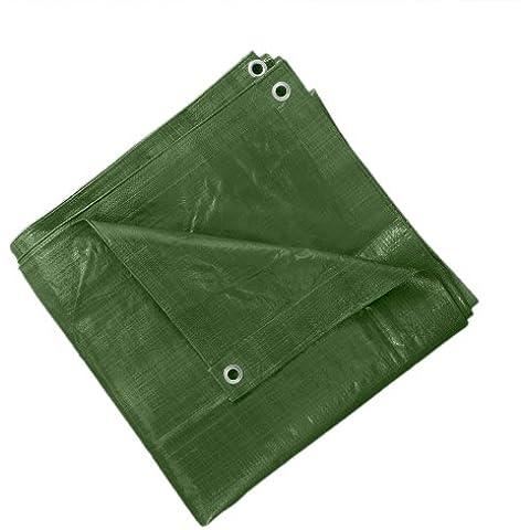 JAROLIFT Lona de cobertura - Lona protectora 4 x 5 m - Polietileno 140 gr / m2 - verde