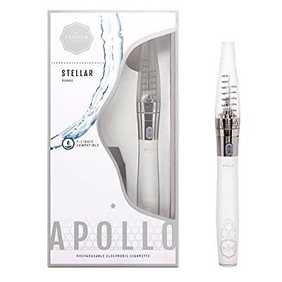 eShisha Club Stellar | Apollo | Blau | PRO Kit | Blaubeere + Minze | Wiederaufladbare E-Zigarette | E-Liquid Nachfüllbarer Vapourstift | E-Shisha | 800 Zug Elektronischer Shishastift | Nachfüllbare Elektronische Zigarette | Nikotinfrei | Ohne Tabak | En