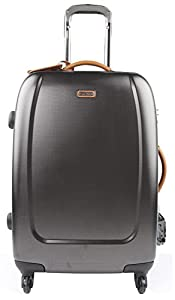 Melvin Xtra Lite 70/79cm Designer Spinner Suitcases Medium 57l or Large 86l Lightweight 360° Rolling Luggage Strong Hard Shell 4 Wheel Lined Trolley Cases Telescopic Handles & TSA Locks Anthracite