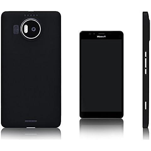Xcessor Vapour Funda Carcasa de TPU Gel Flexible Para Microsoft Lumia 950 XL. Negro
